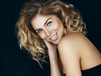 Glamorous women smiling